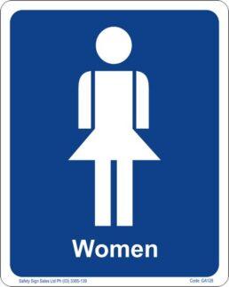 GA128 – Restroom Sign – Women