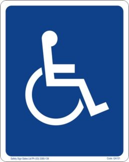 GA131 – Restroom Sign – Wheelchair Access