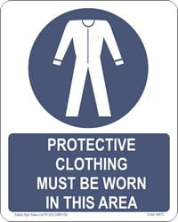 MA72 – Protective Clothing Must Be Worn In This Area