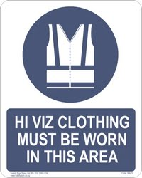 MA73 – Hi Viz Clothing Must Be Worn In This Area