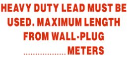 Electrical – Heavy Duty Lead Must Be Used …