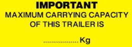 Trailer – Maximum Carrying Capacity …